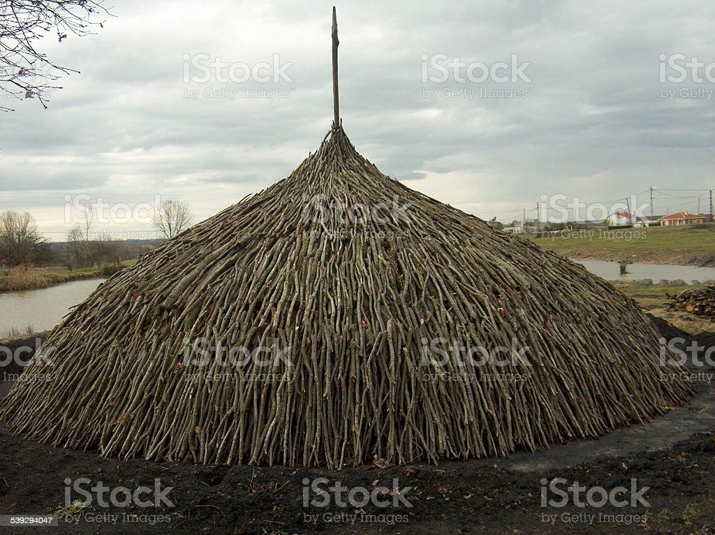 wood coal stock photo