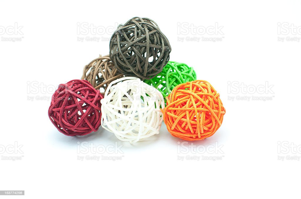wood color ball 1 royalty-free stock photo