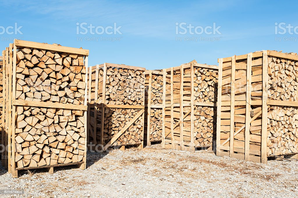 Wood complex for sale at the depot. stock photo