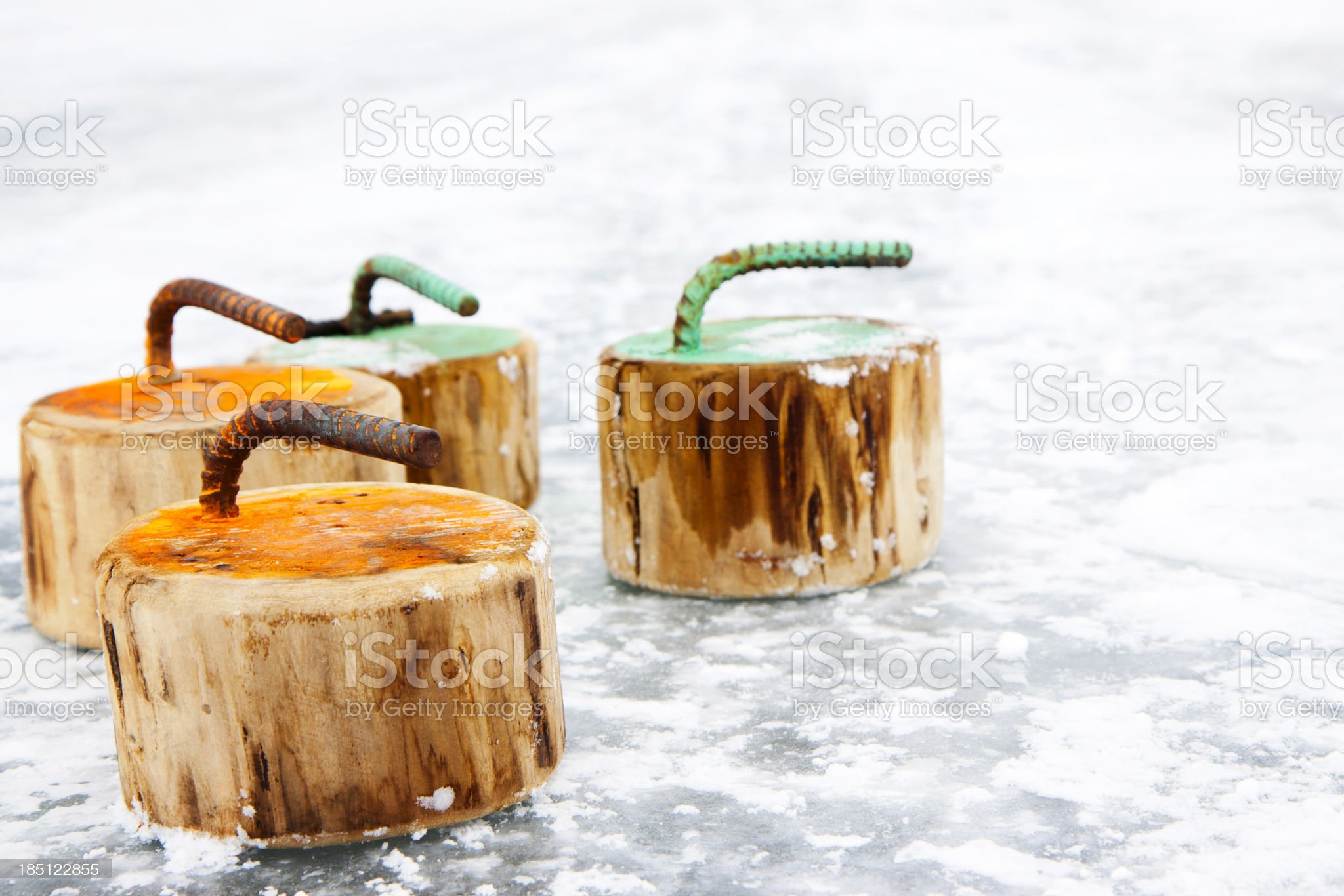 Wood Curling Rocks royalty-free stock photo