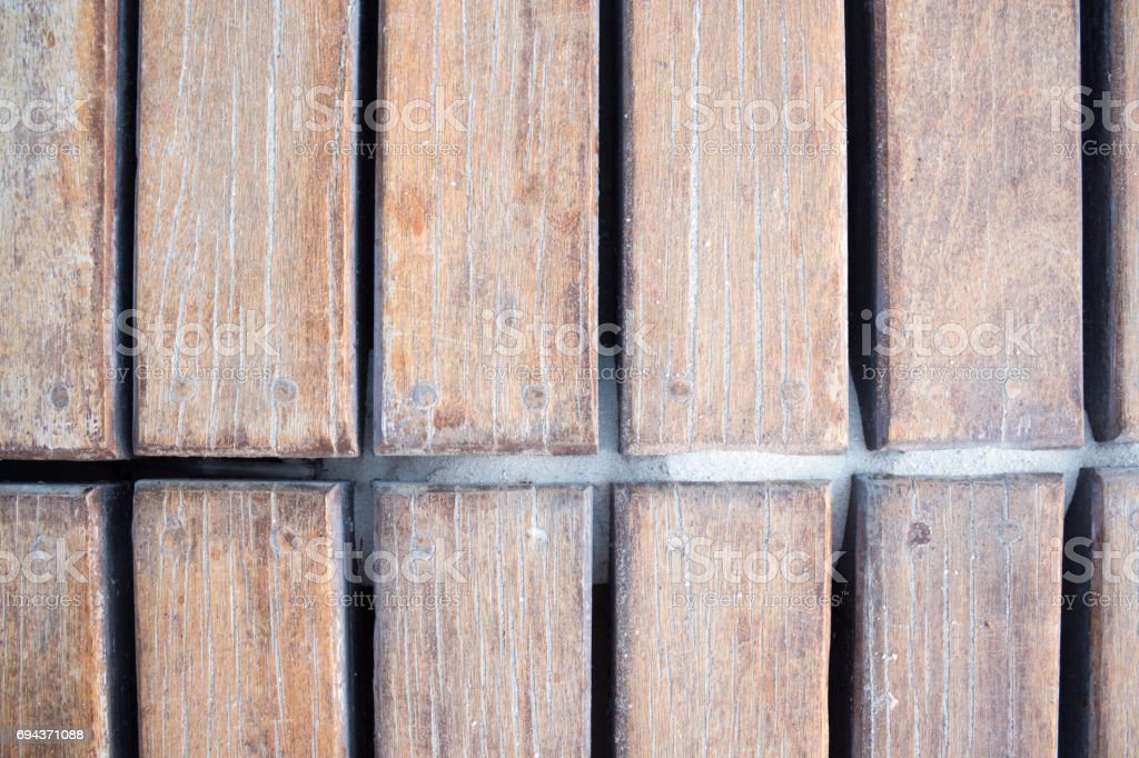 Wood deck texture stock photo