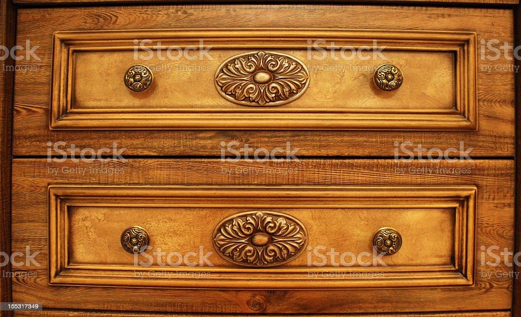 Wood decorated stock photo
