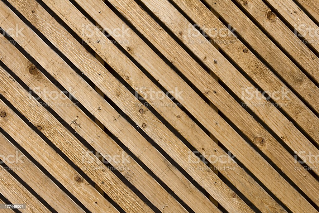 Wood diagonal panelling royalty-free stock photo