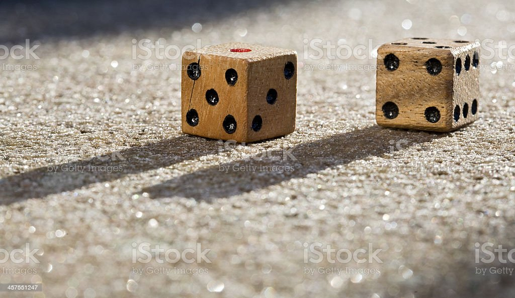 wood dice stock photo