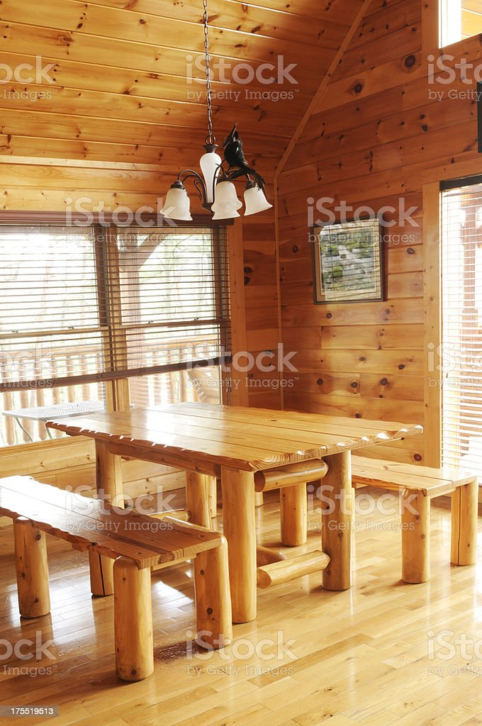 Wood Dining Room royalty-free stock photo