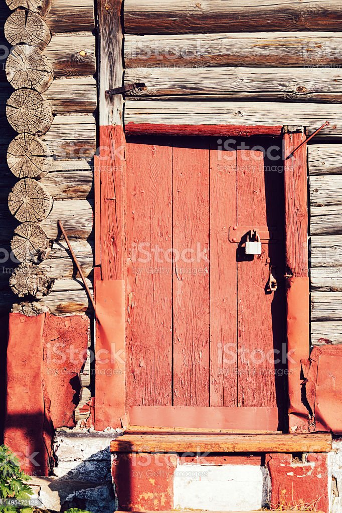 wood door and wall textured  wallpaper background. stock photo