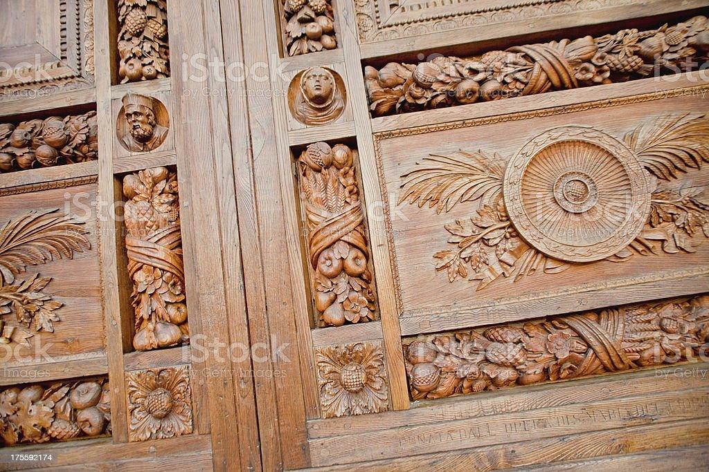 Wood Door Detail stock photo