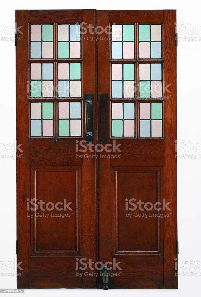 wood door stock photo