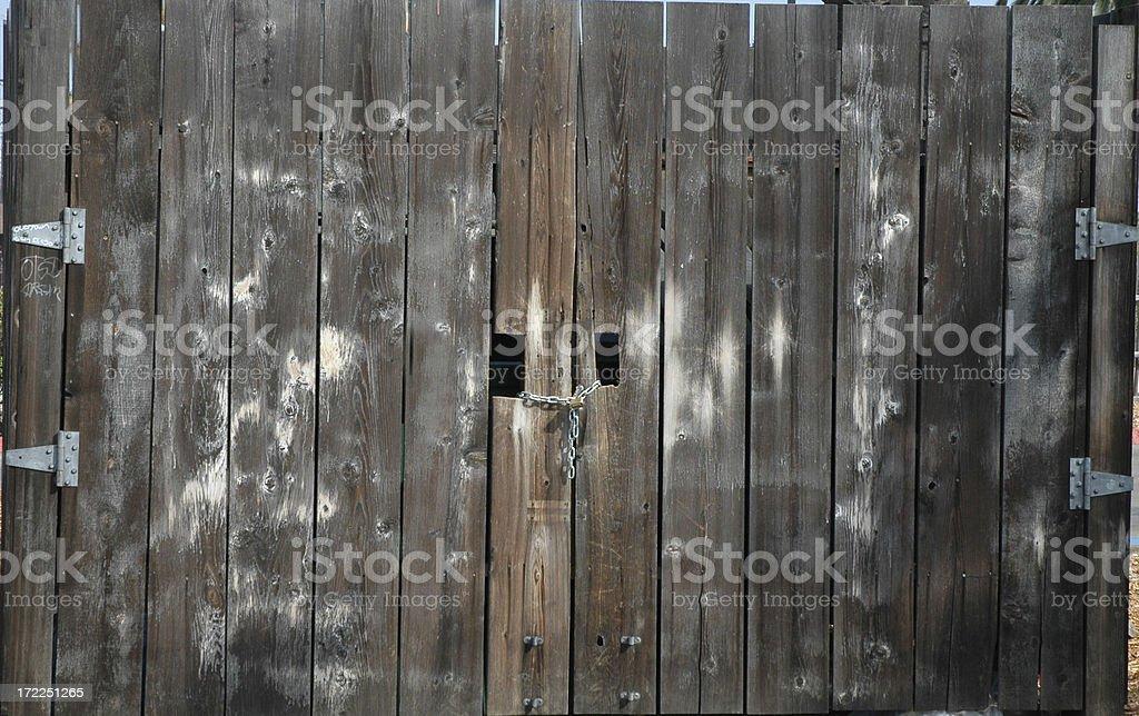 Wood doors stock photo