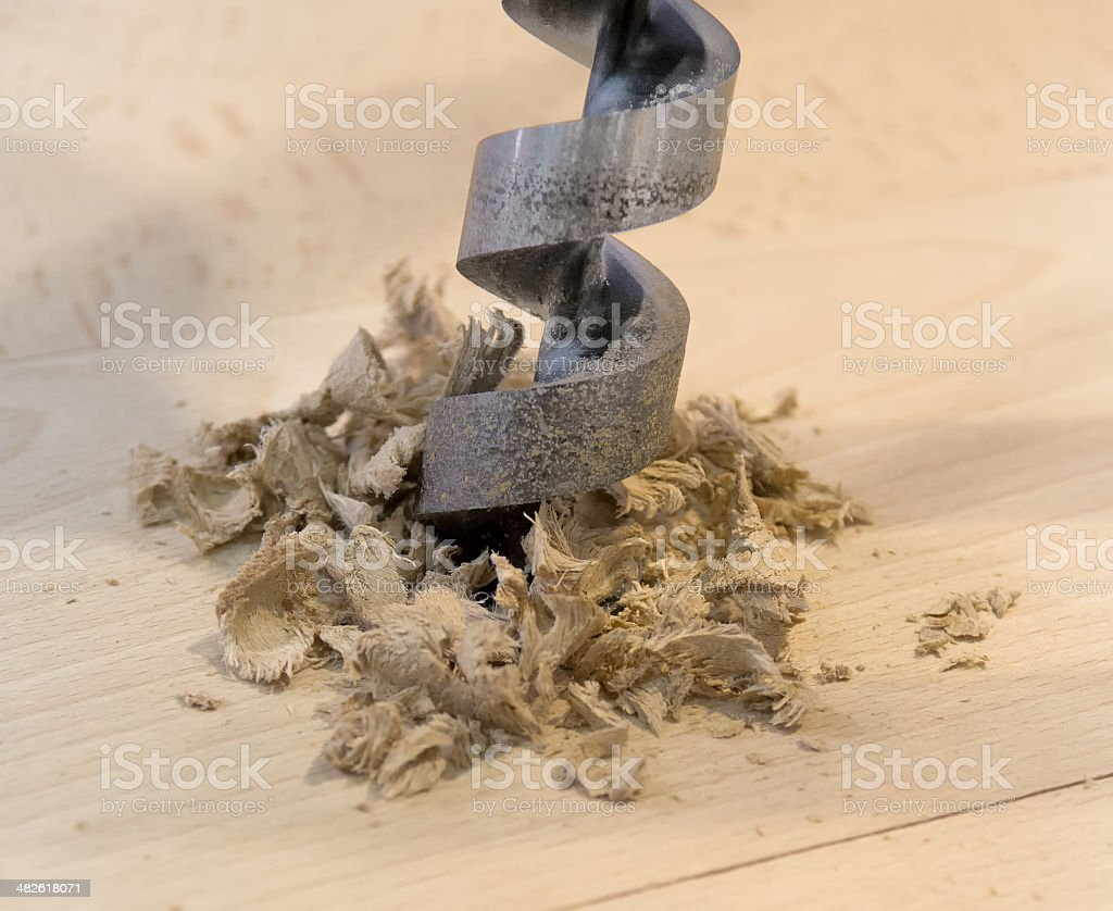 Wood drill royalty-free stock photo