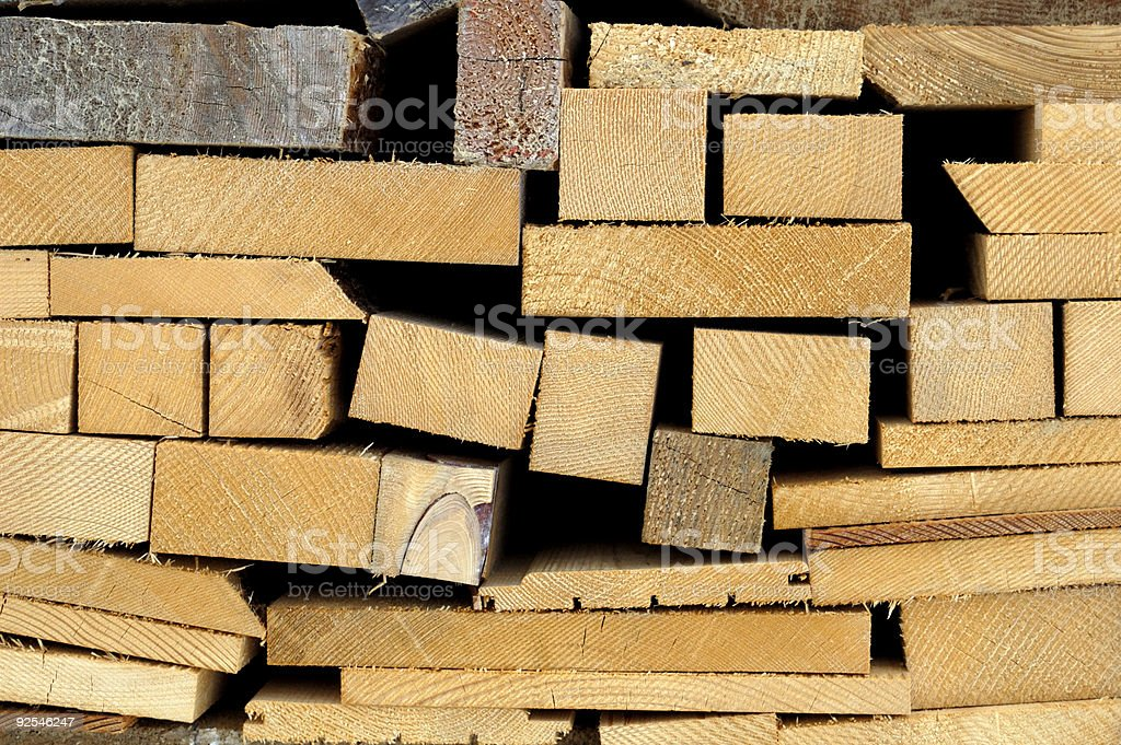 Wood ends royalty-free stock photo