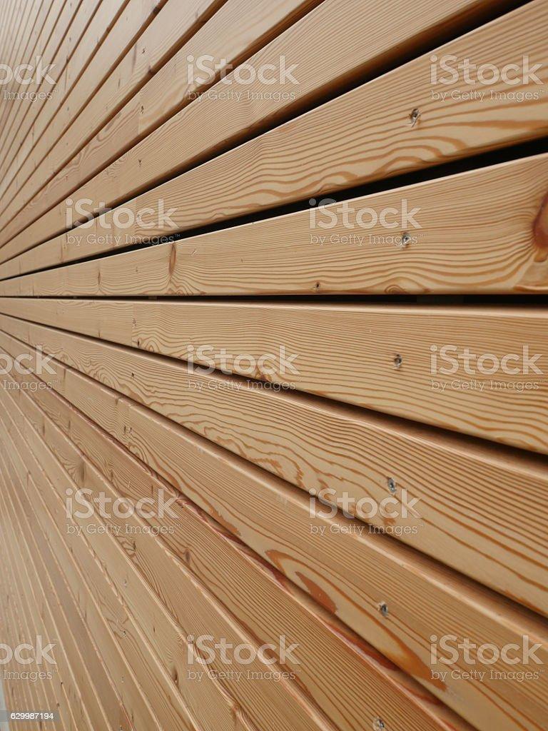 wood façade stock photo