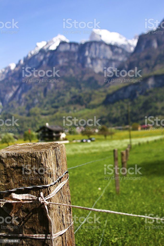 Wood Fence In The Country stock photo