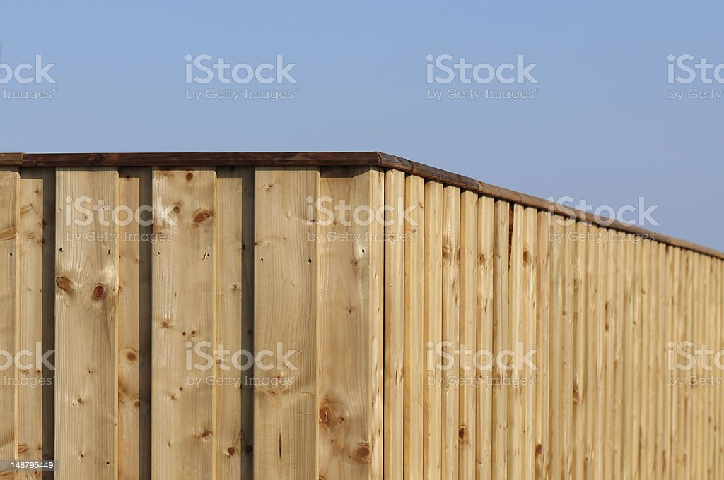 wood fence stock photo