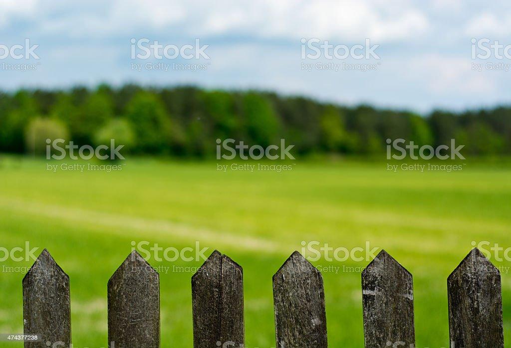 Valla de madera foto de stock libre de derechos