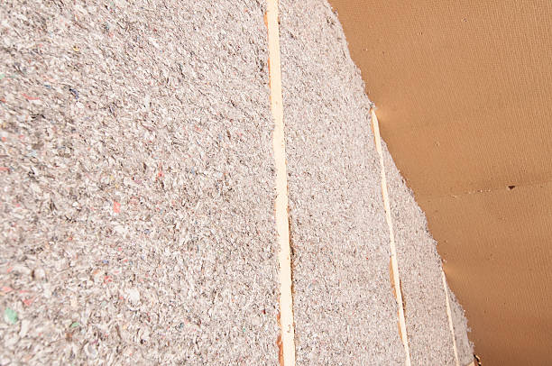 Wood Fiberboard Insulation ~ Weatherization pictures images and stock photos istock