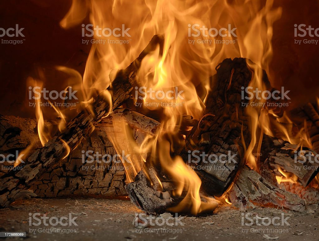 Wood fire royalty-free stock photo