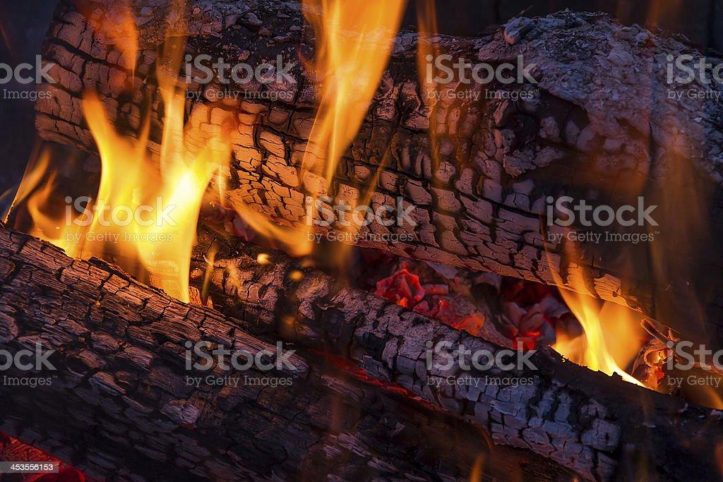 Legno fuoco foto stock royalty-free
