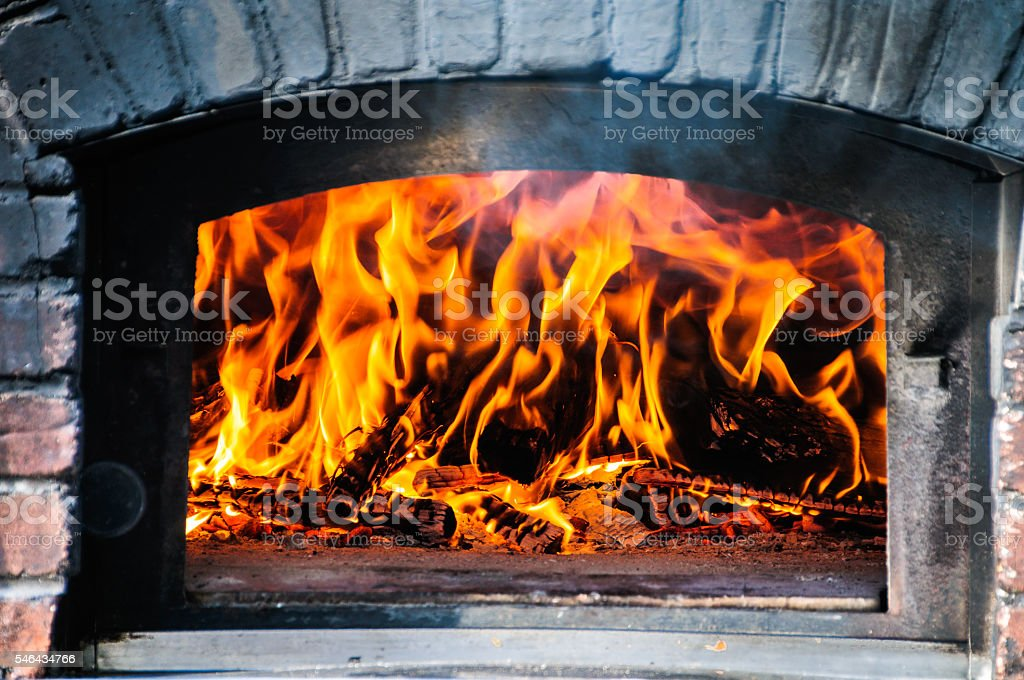 Wood Fired Brick Oven stock photo