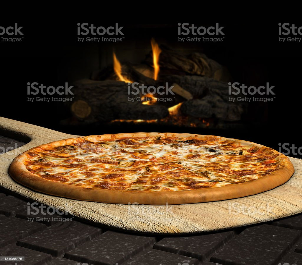 Wood Fired Pizza stock photo