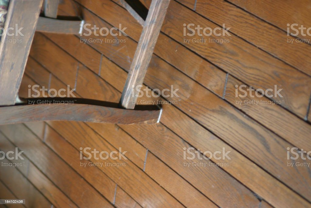 wood floor and chair royalty-free stock photo
