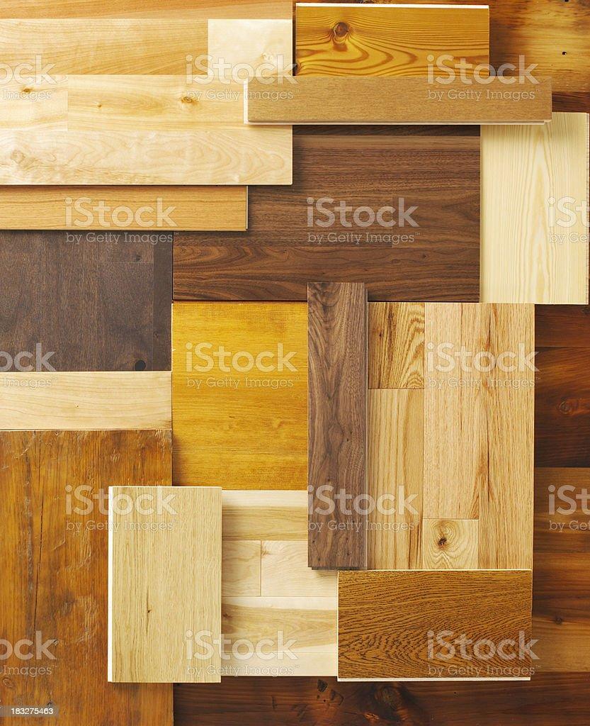wood floor samples stock photo