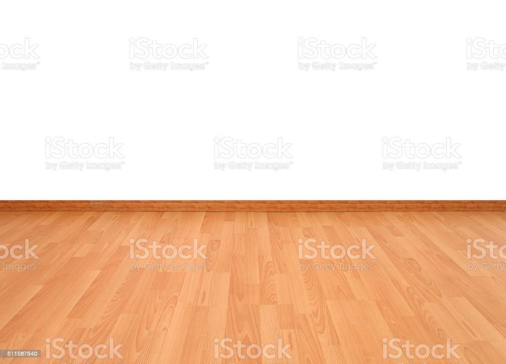 Wood floor texture in light color tone isolated on white stock photo