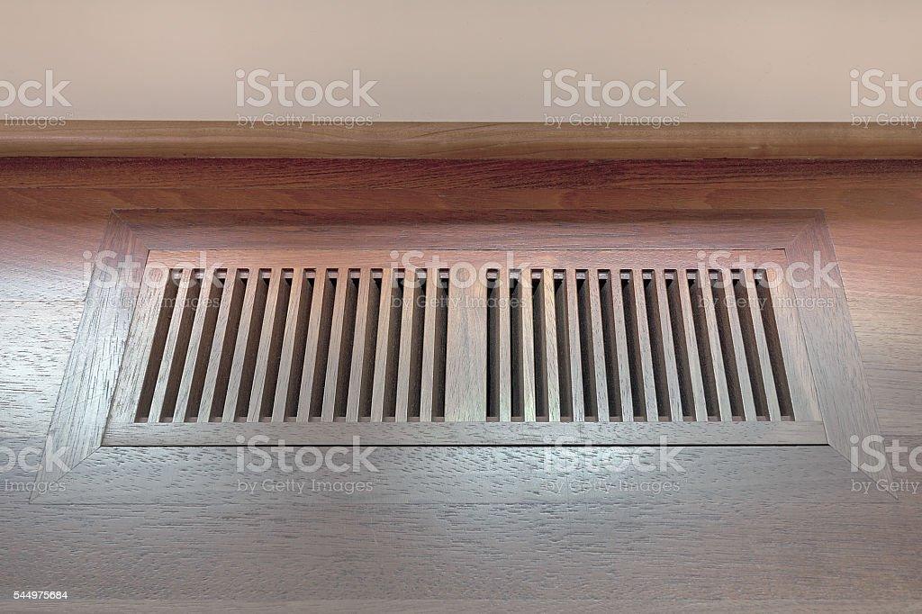 Wood Floor Vent Cover stock photo