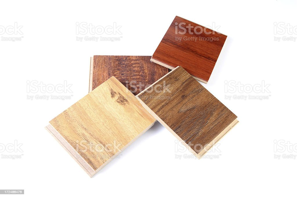 Wood Flooring Samples royalty-free stock photo