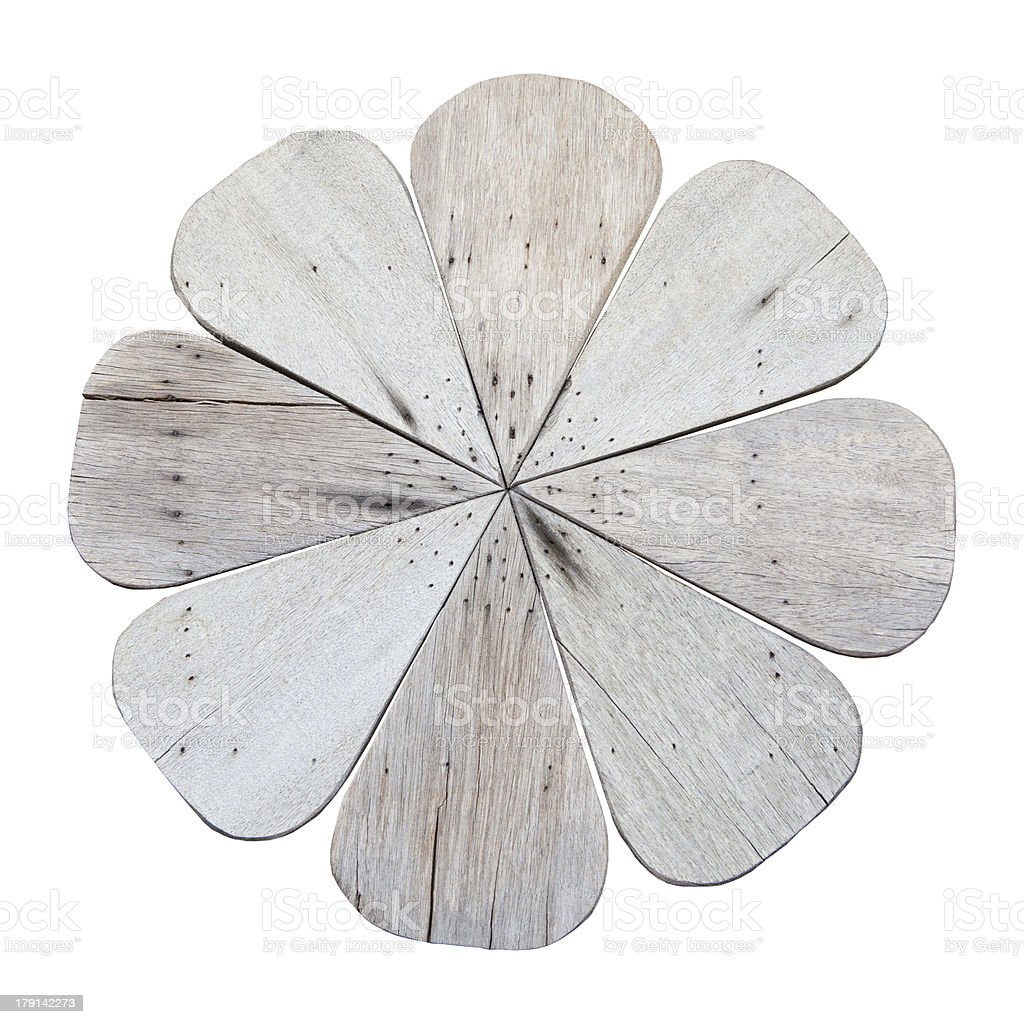 wood flower isolated stock photo