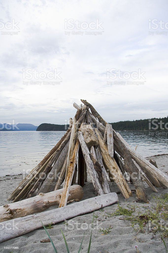Wood for a Fire royalty-free stock photo