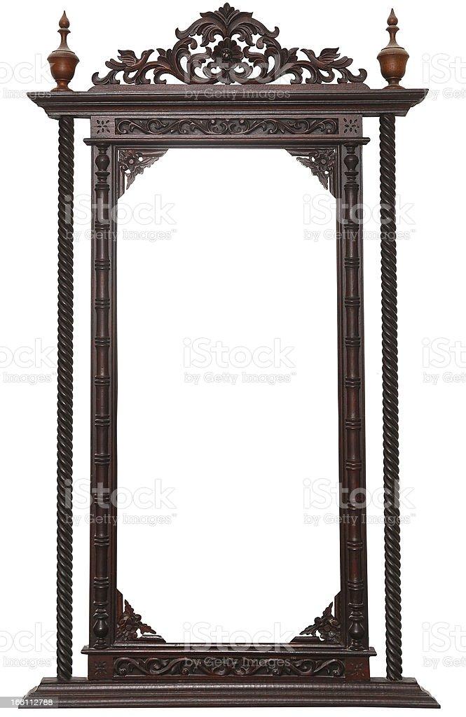 Wood frame vintage royalty-free stock photo