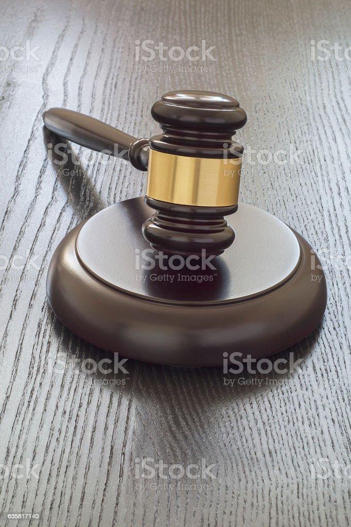Wood gavel stock photo