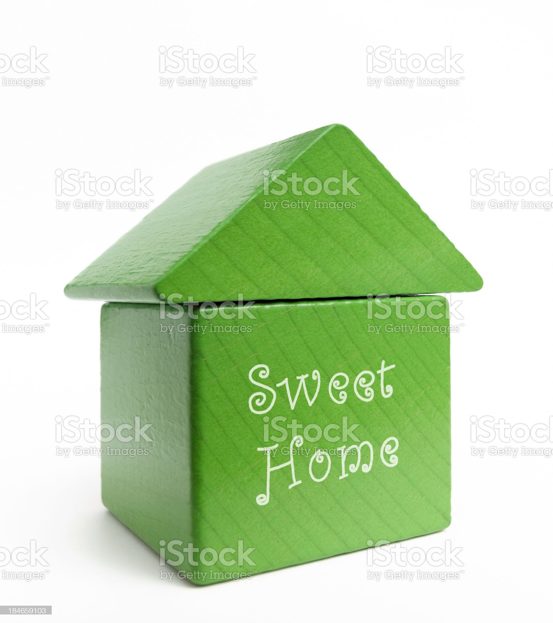 Wood green model house royalty-free stock photo