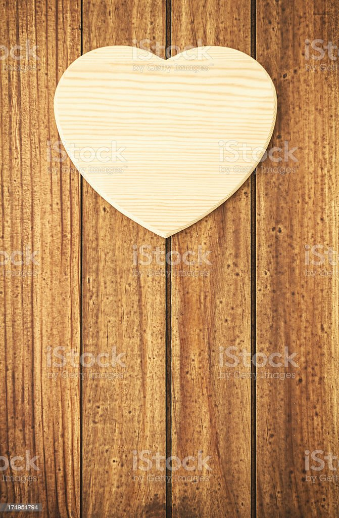 Wood heart shape for St. Valentine concept royalty-free stock photo