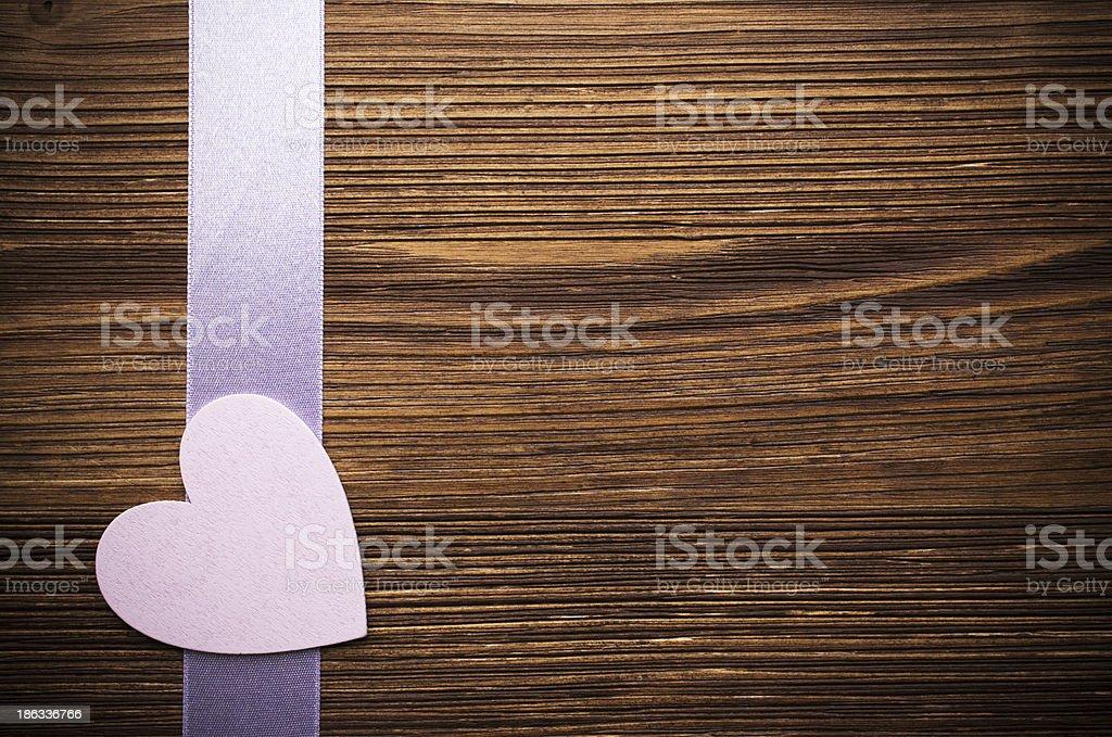 Wood hearts. royalty-free stock photo