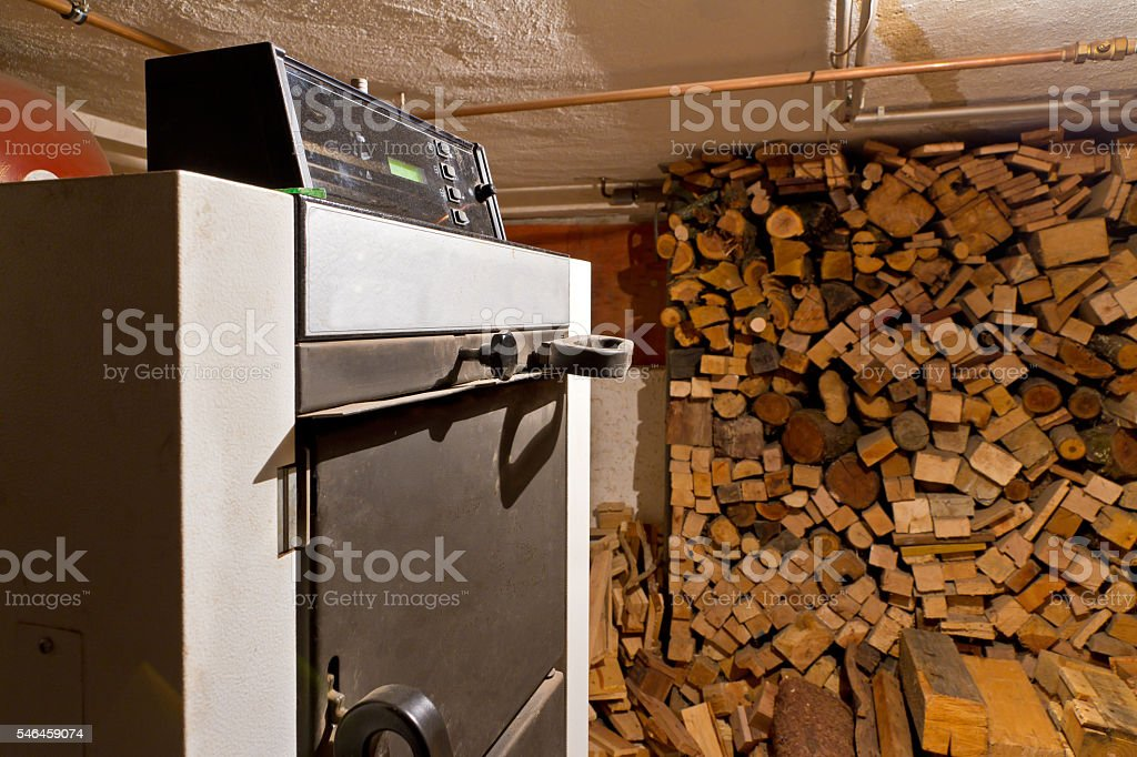 Wood  heater stock photo