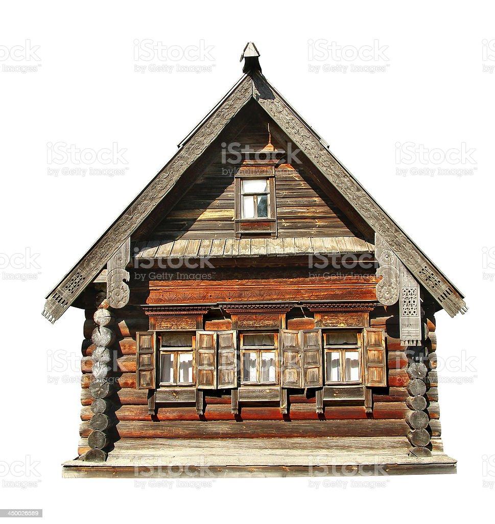 Wood house stock photo