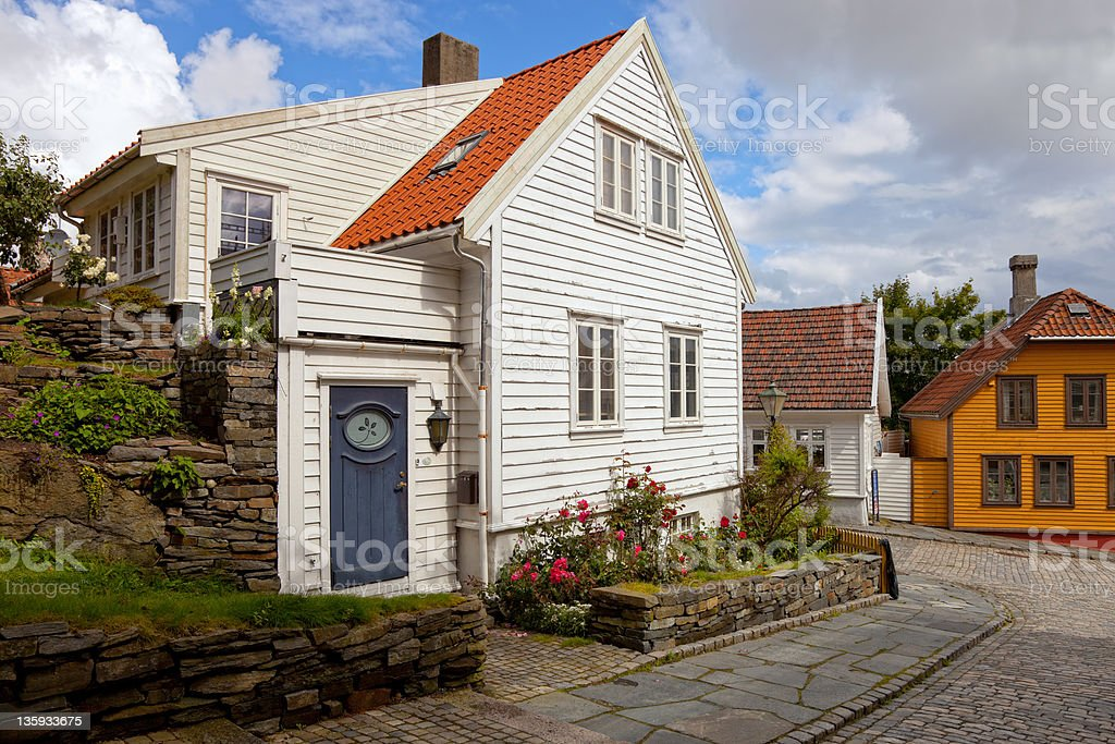 Wood houses in Norway royalty-free stock photo