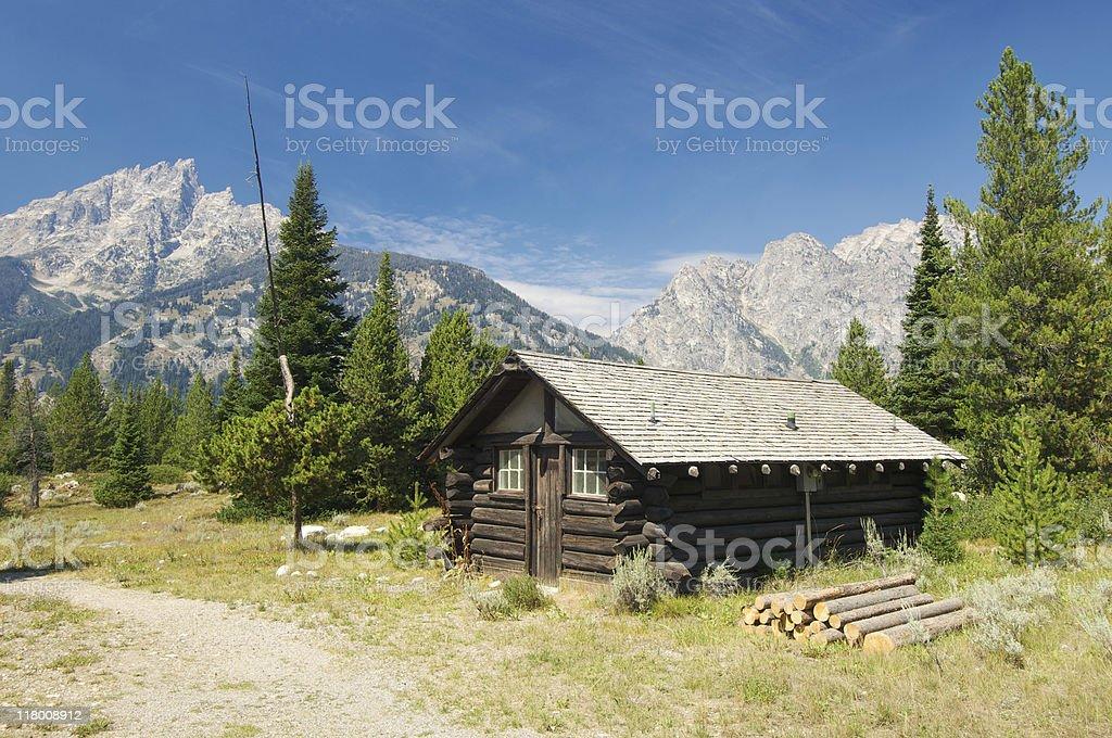 wood hut royalty-free stock photo