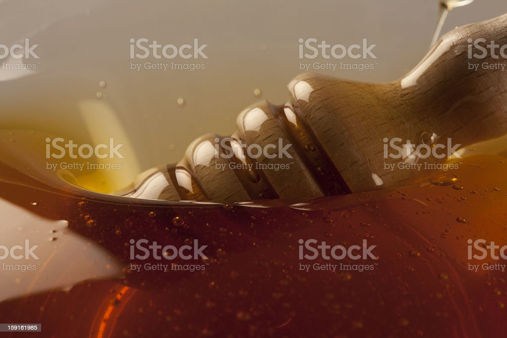 Wood in honey royalty-free stock photo