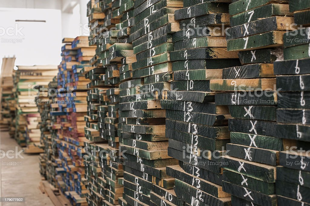 Wood in Storage royalty-free stock photo