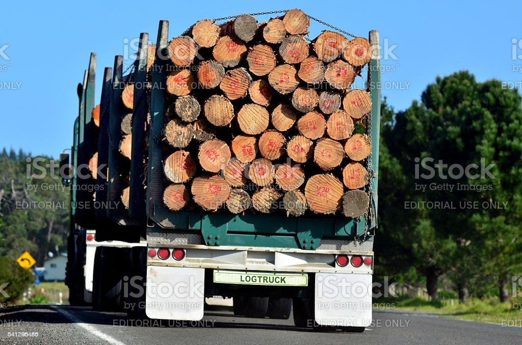 Wood Industry - Logging truck stock photo