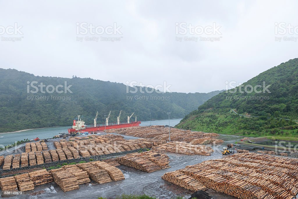 Wood Industry, New Zealand stock photo