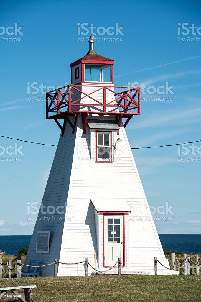 Wood Islands Provincial Park Lighthouse on Prince Edward Island stock photo