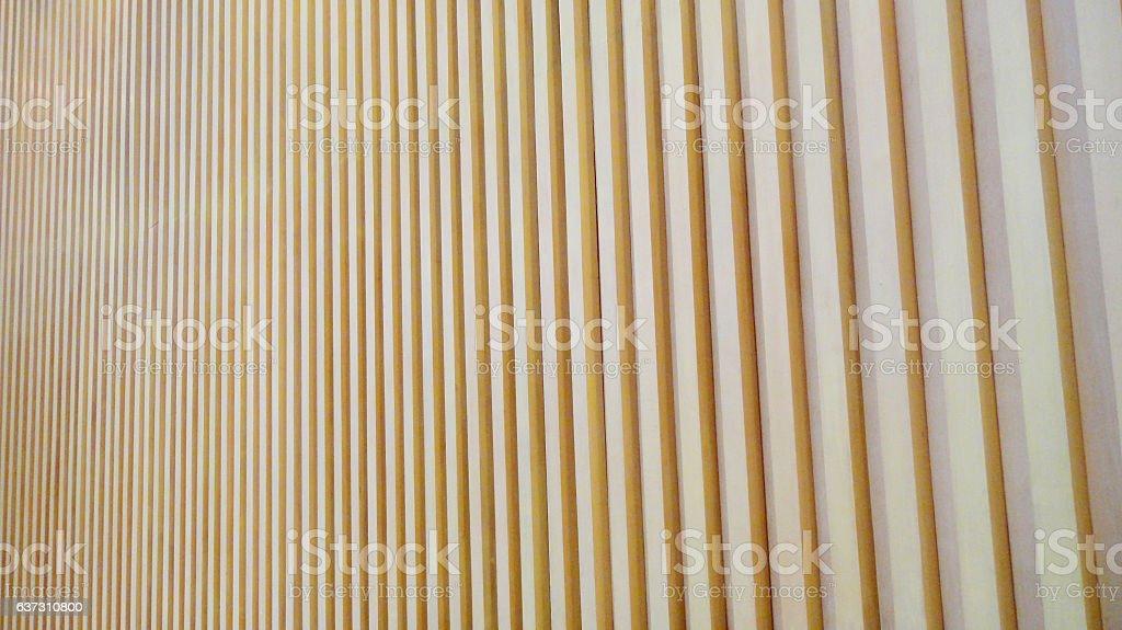 wood lath wall stock photo