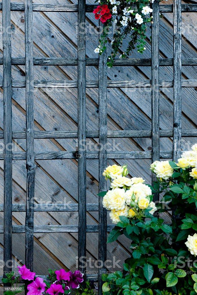 Wood lattice royalty-free stock photo