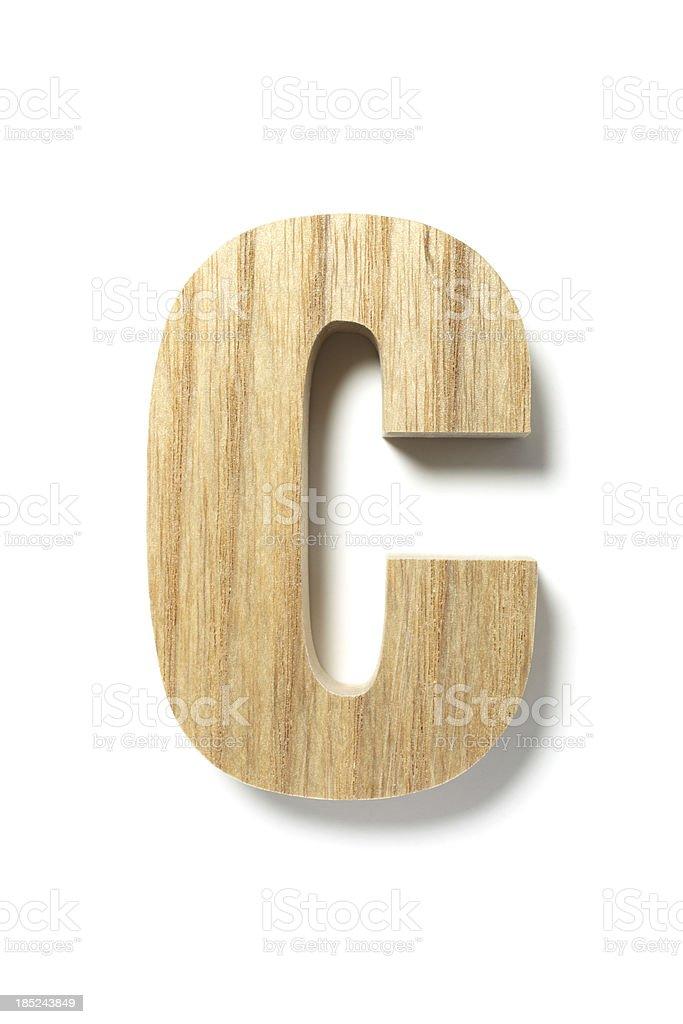 Wood Letter C stock photo