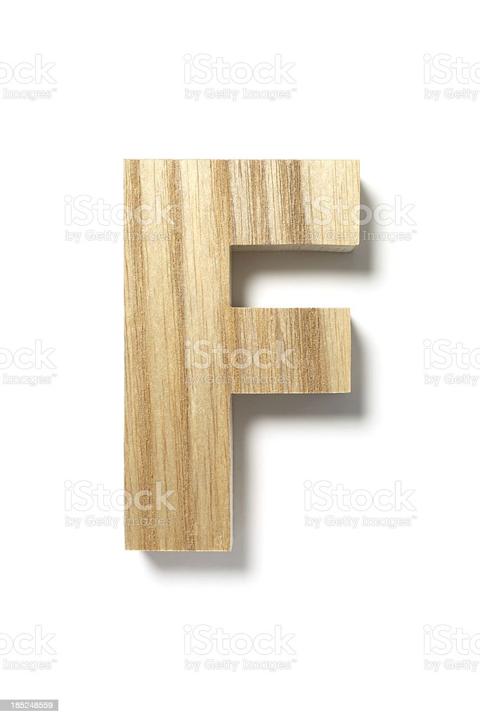 Wood Letter F stock photo