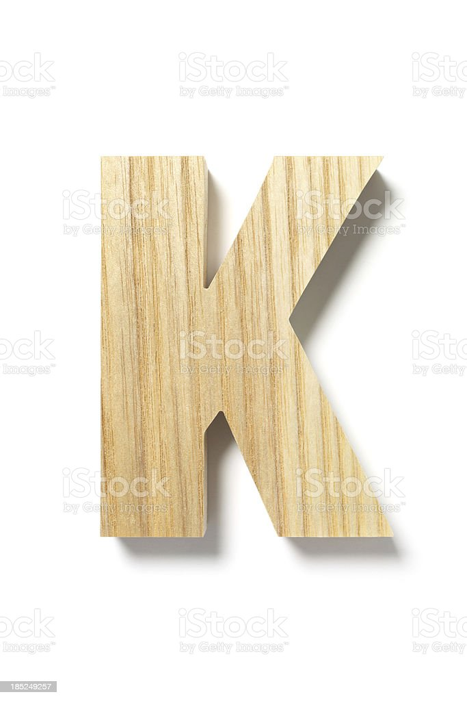 Wood Letter K royalty-free stock photo